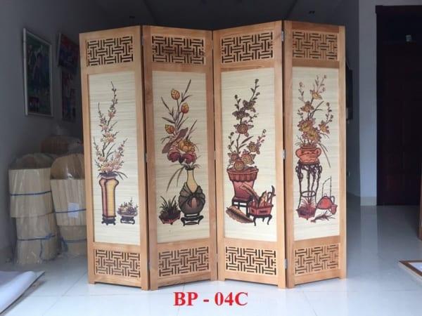 Bình phong gỗ tứ bình BP04C