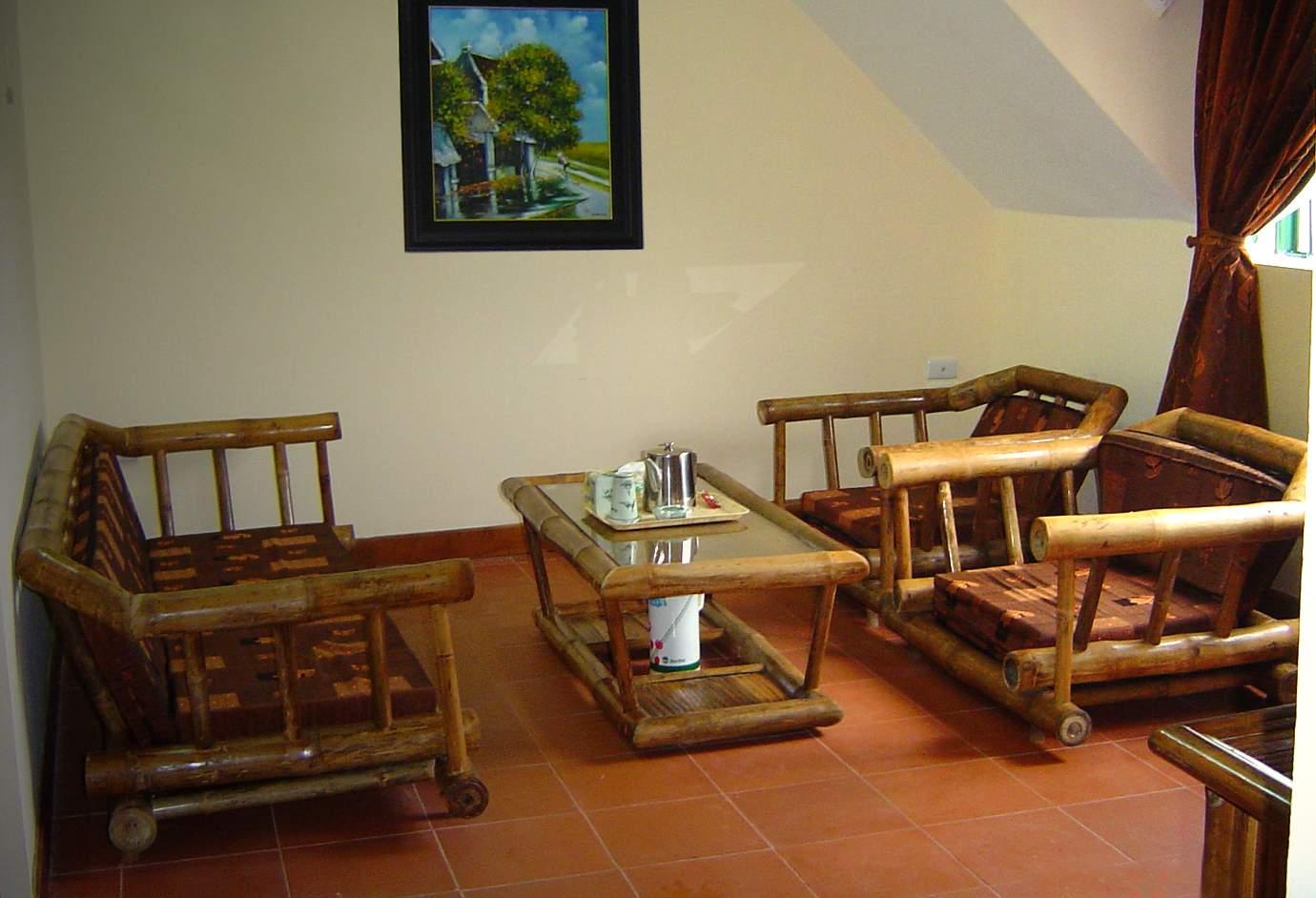 Bộ Salon tre trúc phòng khách cổ điển