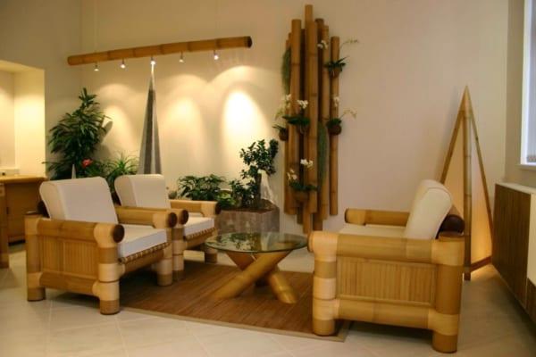 Bộ bàn ghế salon tre trúc
