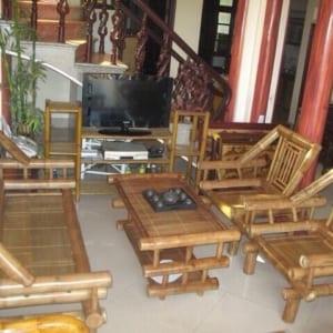 Bộ bàn ghế tre trúc màu sắc tự nhiên